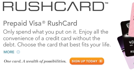 Www.RushCard.com Account Login, Rushcard Prepaid Visa Debit Card, The Rush Card Website, Prepaid Visa RushCard Application